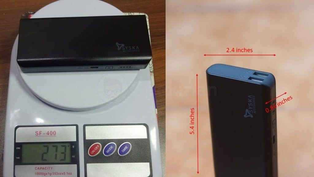 Syska X110 Power bank Review