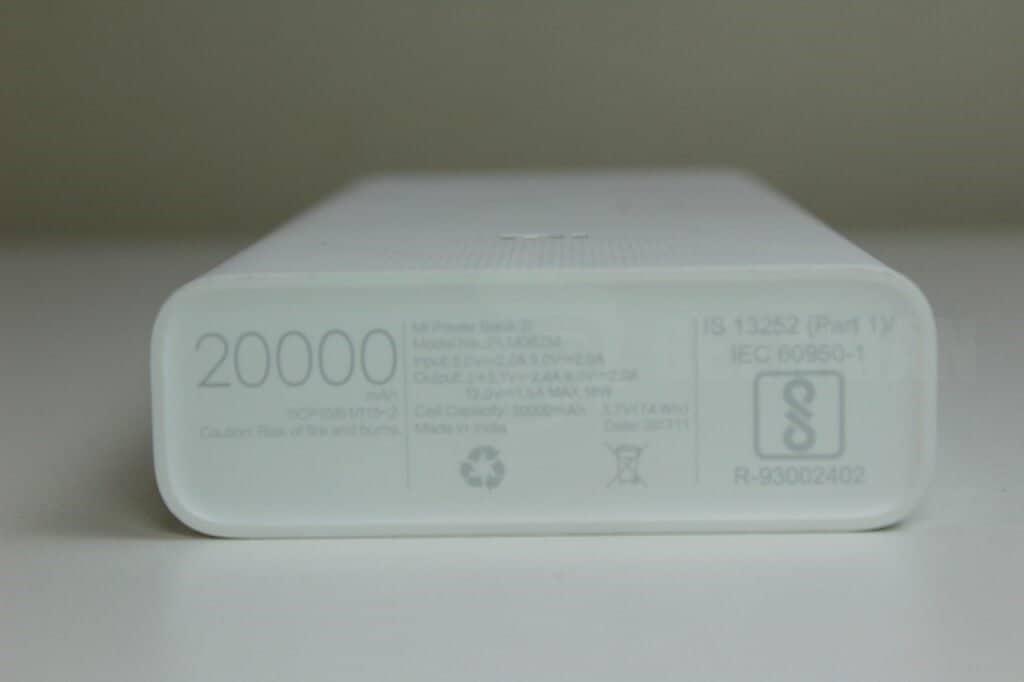 20000 mAH Mi Power bank 2i