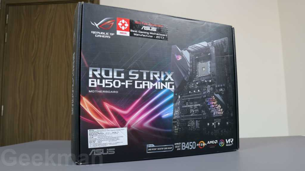 ASUS ROG STRIX B450-F pc build