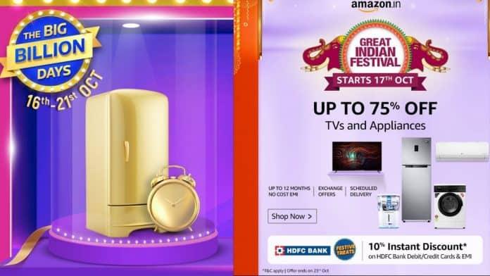 Best Refrigerators Deals On Flipkart Big Billion Days and Amazon Great Indian festival