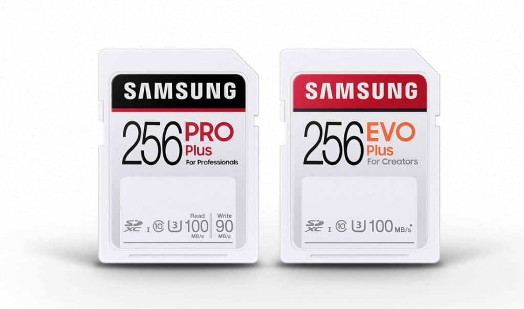 Samsung PRO Plus and EVO Plus SD Cards
