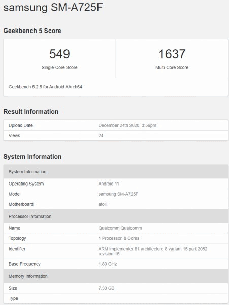 samsung-galaxy-a72-4g-spotted-on-geekbench