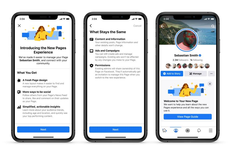 facebook-redesigns-public-pages-with-simplified