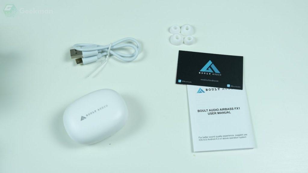 Boult AirBass FX1 box content