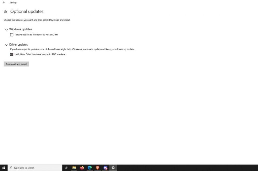 drivers update using windows 10